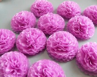 Small Paper Flowers, Lilac Flowers, Tiny Flowers, 1 Inch Paper Flowers, Wedding Centerpiece, Bridal Shower, Baby Shower, Purple Lavendar