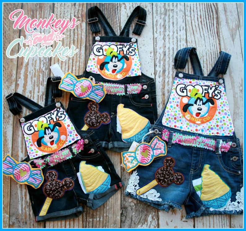 Custom Girls U Design Boutique Overalls monkeys and Cupakes Star Wars Disney princess cruise