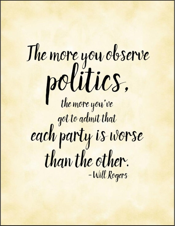 Items similar to Funny political quote typography print ...