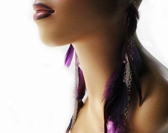 Chiamaka Tropix Feather Earrings