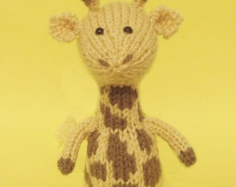 Giraffe Toy Knitting Pattern (PDF)  Legs, Egg Cozy & Finger Puppet instructions included