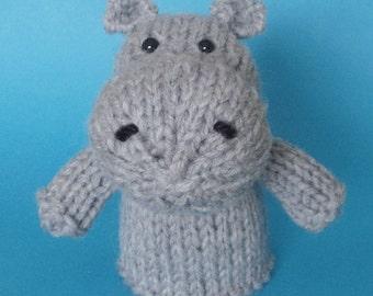 Hippo Toy Knitting Pattern (PDF)