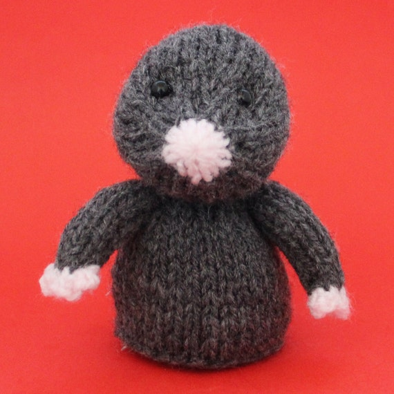 Mole Toy Knitting Pattern Pdf Toy Egg Cozy Finger Puppet