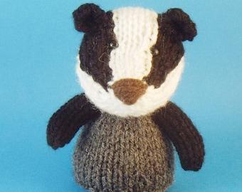 Badger Toy Knitting Pattern (PDF)