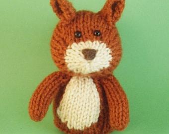 Squirrel Toy Knitting Pattern (PDF)
