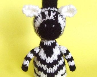 Zebra Toy Knitting Pattern (PDF)