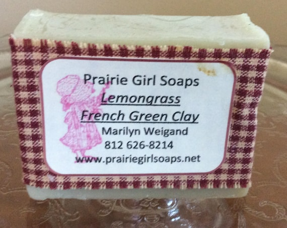 Lemongrass Soap With  French Green Clay