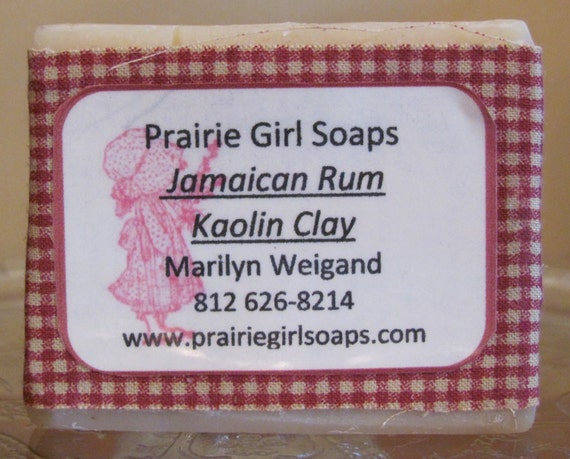 Jamaican Rum soap with Kaolin Clay