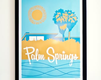 Palm Springs Travel Poster