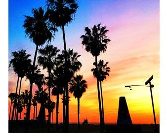 Venice Beach Sunset print