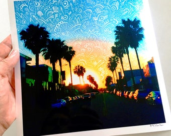 Abbot Kinney Sunset print