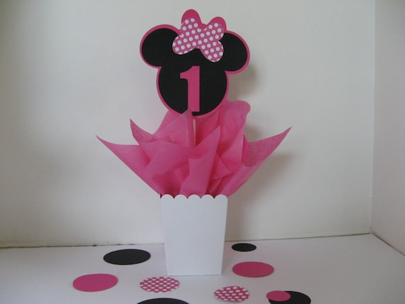 Minnie Mouse Birthday Table Decoration With Large Table Etsy