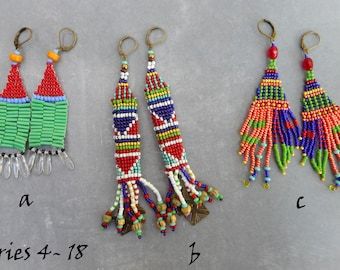 Ethnic collection, seed bead earrings series 4