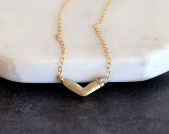 Heart Necklace, dainty Rough Diamond choker, white, pink, blue, black Valentine's day Gift for her Under 60 VitrineDesigns