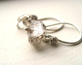 Herkimer Diamond Earrings Simple quartz drops Sterling Silver by Vitrine Bridesmaid gift wedding jewelry Gift for her Under 50