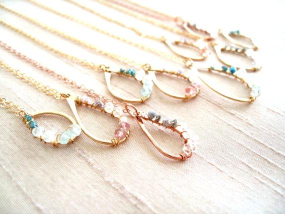 Bridal Diamond Pendant Necklace Rough Diamond Pink Blue Etsy