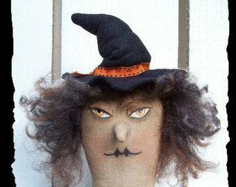 Hocus Pocus, A Primitive, Folk Art, Two, WITCH, Halloween, Doll, Pattern