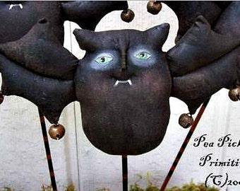 BATS, Ding Bats, Primitive, Folk Art, Doll, PATTERN by Pea Picker's Primitives