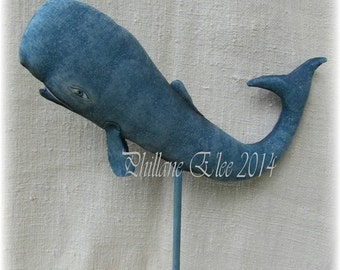 Fish, WHALE, Nuncio, A Primitive, Folk Art, Doll, Pattern by Whimsical Endeavors