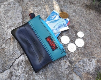 RECYCLED - Small Purse - Vegan change pouch  -Bike inner tube - bike friendly -  coin wallet - repurposed