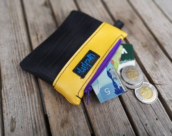 Small Purse - Vegan change pouch  -Bike inner tube - bike friendly -  coin wallet - repurposed - recycled