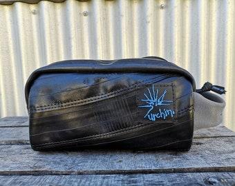 RECYCLED - Travel Dopp Kit - Mens Toiletry Bag - Shaving Kit - Fathers Day Gift - Vegan Toiletry Bag - Dopp Bag - Gift for Cyclist