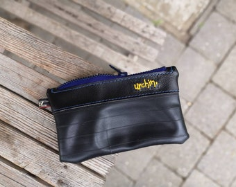 Eco Friendly Pouch - Made with Recycled Bike Tubes - Bike tube bag - Vegan leather - Everyday purse - repurposed
