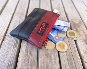 Eco friendly mini change purse - Recycled Bag - made from bicycle inner tube