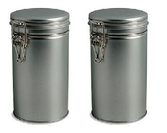 2 pcs Airtight Tea Coffee Tins with Latch