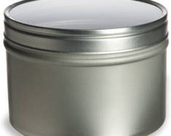 4 oz Clear Top Round Tins