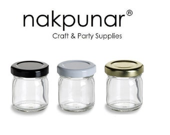 1 pcs 1.5 oz Regular Glass Jars with Color Choice of Lid