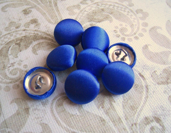 Royal Blue Daisy Flower Size 24 Buttons *4 Options*