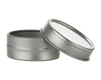1/2 oz Tin Containers with Clear Top
