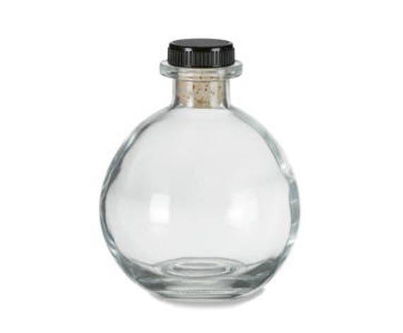 1 pc Glass Ball Bottle with Cork Bottle Stopper 8.5 oz