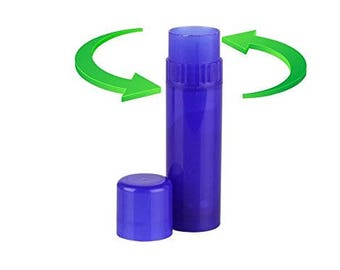 50 pcs - Empty Cobalt Blue Empty Lip Balm Tube Containers - BPA Free, FDA Approved, Made in usa - DIY Lip Balms, Foundations, Counselor