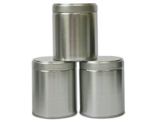 Wide Twist Top Tea Tin (2 Cup / 16oz) - Set of 3