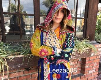 Santa Cruz kantha hoodie