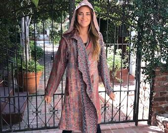 Desert flower nomad silk reversible hoodie