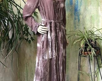 Luxurious velvet shirtdress/duster