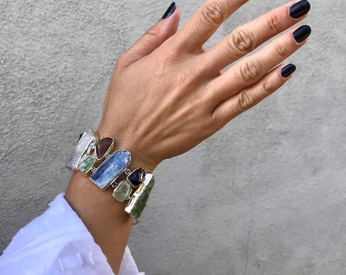 Stunning druzy sterling bracelet