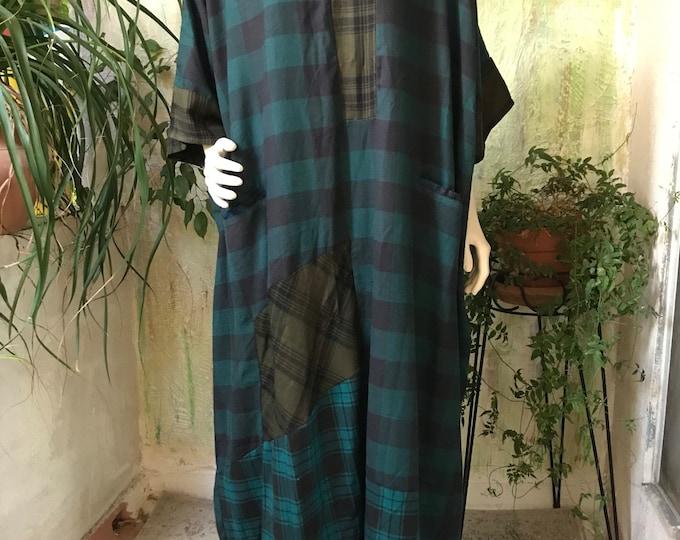 Mixed flannel plaid Caftan