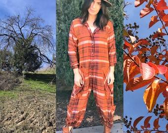 Silk dupioni one size jumpsuit