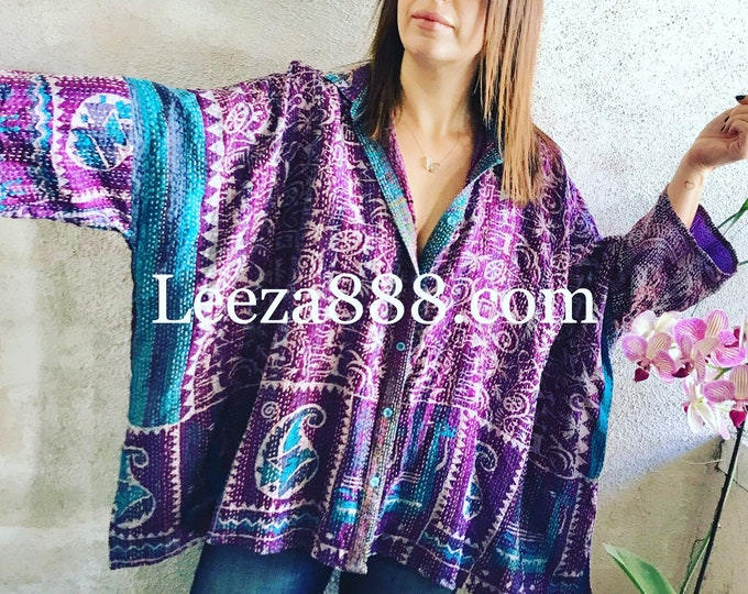 Royal Purple Button down big shirt