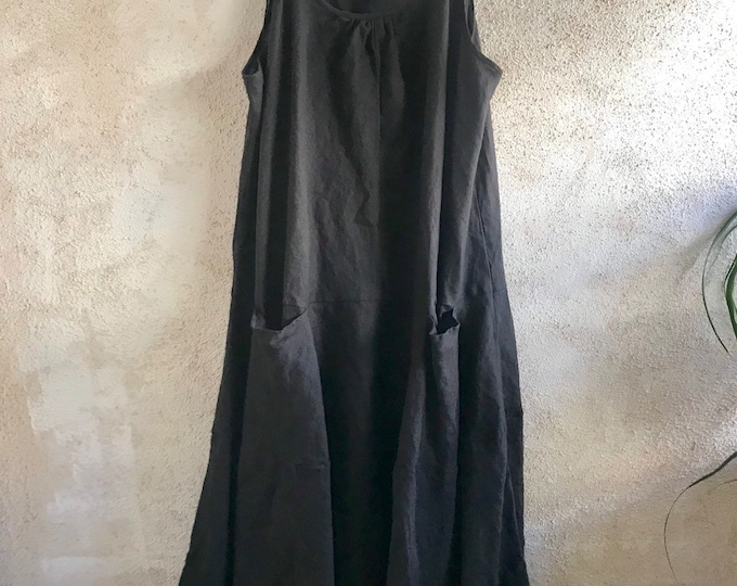 The perfect black linen summer dress in size large