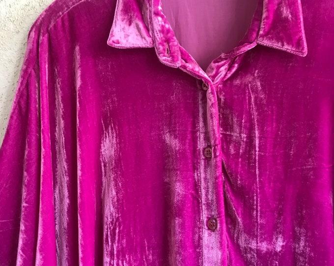 Button down silk velvet Tokyo shirt