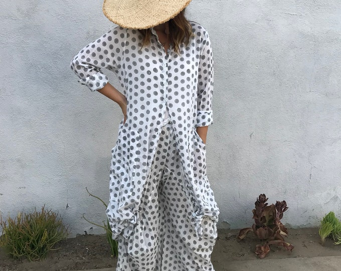 cotton voile polka dot pant