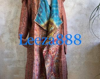 Santa Fe Artwalk silk reversible hoodie