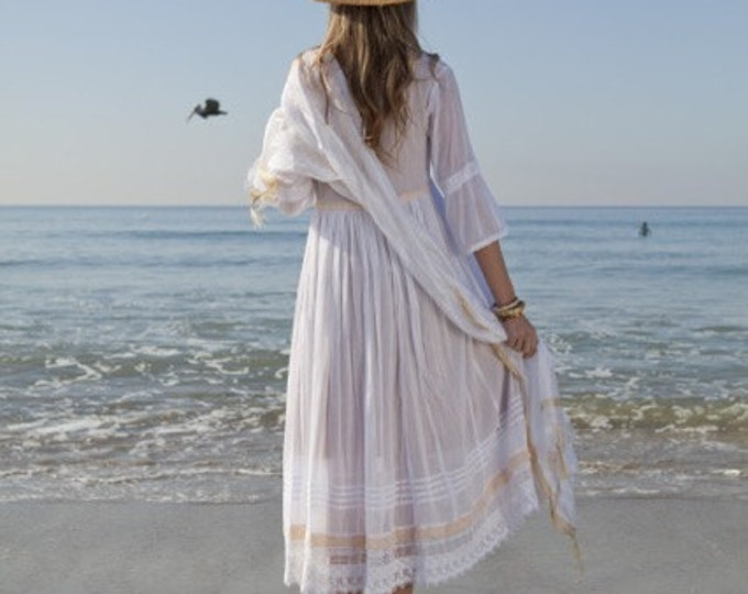 Boho beach wedding dress