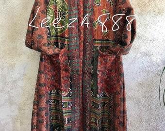 Albuquerque art walk kimono in silk kantha reversible silk