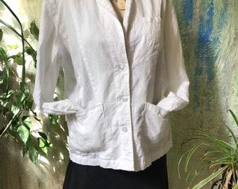 White linen little summer jacket
